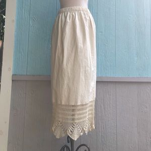 Hippie maxi crochet boho skirt